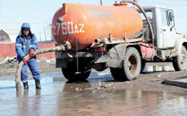 Откачка воды в Красногорске